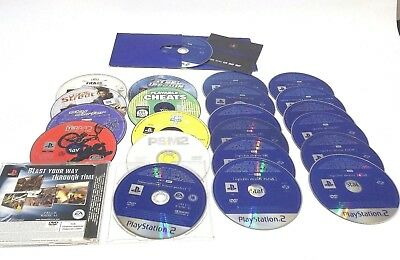 PS2 Sony Playstation 2 - Game Discs and Demo Discs Bundle Disc Resurface Project
