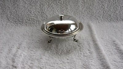 Vintage Silver Plated dome Cover butter/ jam dish acadamy plate & ep jam spoon