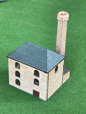 Rare Hornby Resin Large Factory Building With Chimney for OO Gauge Train Sets