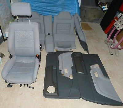 VW Corrado Full Interior (Grey) - late VR6 (seats, hump, door cards)