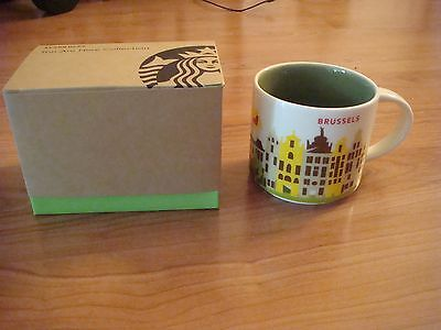 "Starbucks City Mug, ""YOU ARE HERE"" Series YAH Brussels 14oz NEW, With SKU"