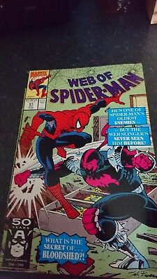 WEB OF SPIDER-MAN #81_OCTOBER 1991_GOOD CONDITION _1st APPEARANCE OF BLOODSHED!