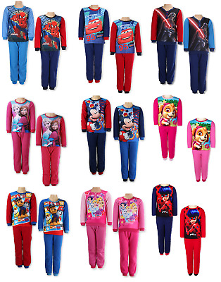 Boy's & Girl's Character Fleece Pyjamas Set Sleepwear Size 2 to 10 Years