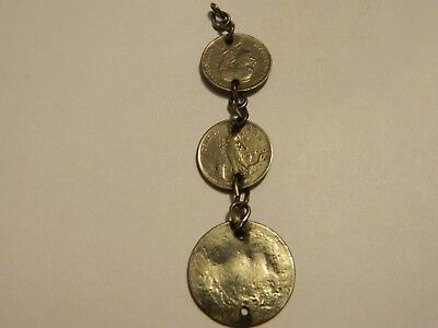 Antique Italy Coins Silver Plated Jewellery Piece --- Lot #1457