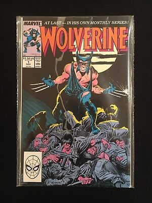 Wolverine Vol 2 - Issue 1 First Print -  1st Patch - NM - 1988 Marvel Comics