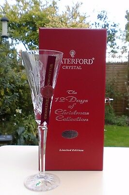Waterford Crystal 12 Days of Xmas Flute, 12 Drummers, Ltd Ed.