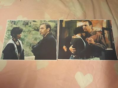 The Bodyguard Cast Signed Pictures. Set Of 2. Whitney Houston. Kevin Costner.