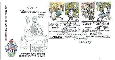 Year of the Child 1979 Alice in Wonderland Llandudno Council Official.