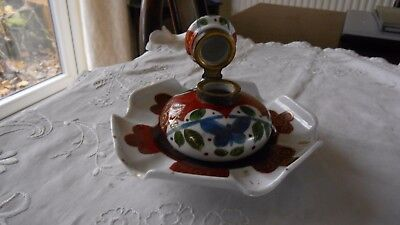 Antique Pottery Inkwell