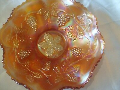 "Fenton - Marigold - Carnival Glass Bowl -1930 "" Vintage Grape"""