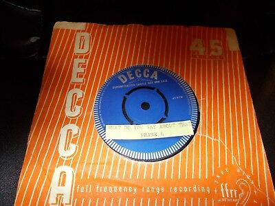Phase 4 What Do You Say About That Decca F12327 Demo Typed Labels 1St Issue