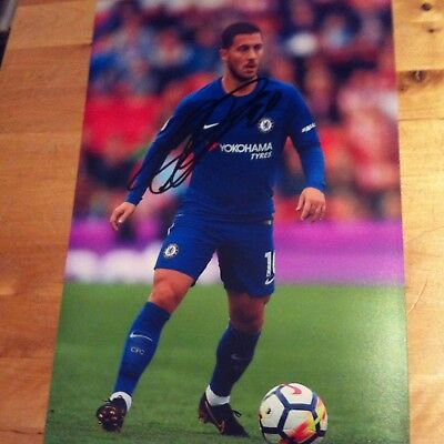 CHELSEA eden hazard signed autographed 12x8 photo signed