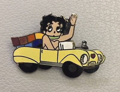 vintage betty boop in convertible lapel hat pin cartoon comic strip