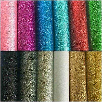 GLITTER FELT - BOW MAKING - 23cm x 30cm sheets, 1mm thick - 25% off 4 or more!!