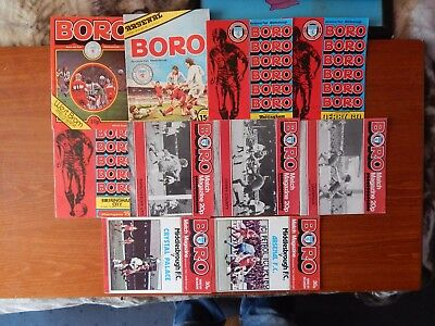 10X Old Middlesbrough Football Club Programmes 1979-81 League Ayresome Park Boro