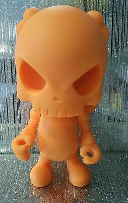 kidrobot Exclusive Dunny - Toycon UK Huck Gee The Skullhead Blank Orange SIGNED!