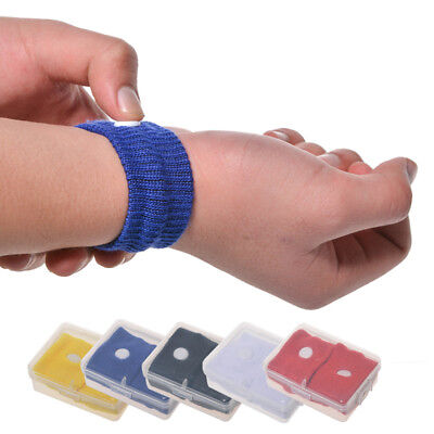 AL_ 1 Pair Motion Sickness Relief Wrist Band Nausea Acupressure Treatment Deluxe