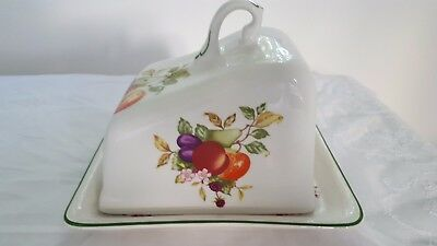 Regal fine bone china cheese plate with cover