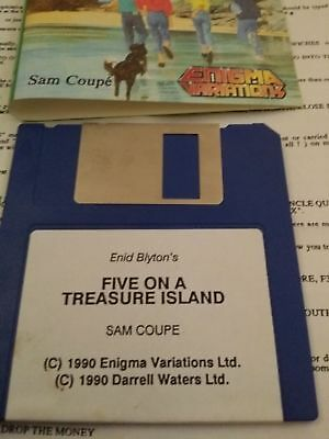 The Famous Five. Five on a Treasure Island for the Sam Coupe Vintsge Computer