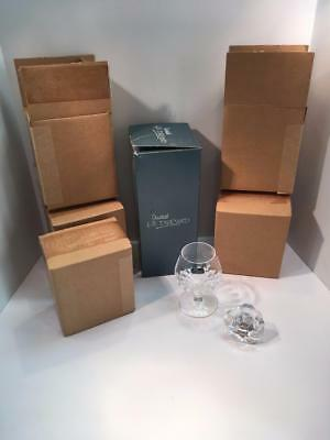 New in Boxes Cristal J G Durand Decanter 4 Wine Goblets Glasses 24% Lead Crystal
