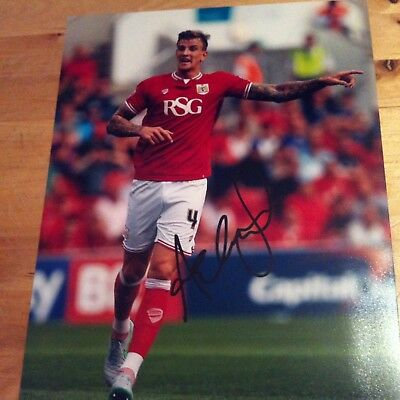 Bristol City ADEN FLINT signed autographed 10x8 photo signed