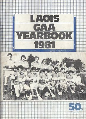 GAA 1981 Laois yearbook Hurling Football A5-size SCARCE