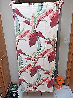 "2 Vintage 52"" By 22"" Barkcloth Panels"