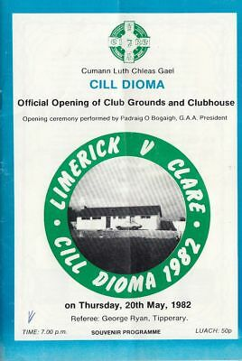 GAA 1982 Kildimo Limerick pitch opening - Limerick v Clare hurling challenge