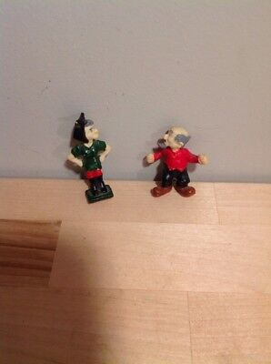 Vintage Plastic One And 1/2 Inch And 2 Inch Li'l Abner Mammy And Pappy Dogpatch