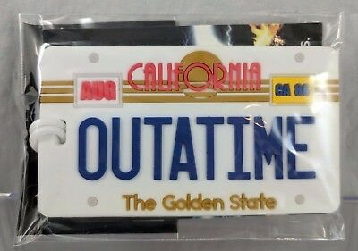 "Back to the Future ""OUTATIME"" Luggage Tag - GEEKFUEL EXCLUSIVE!"