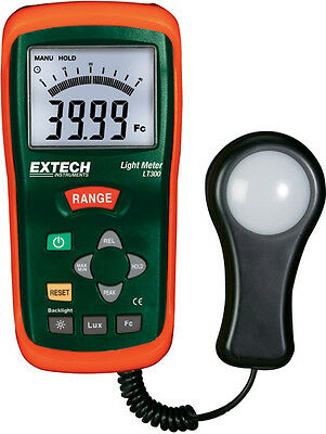 Extech LT300 Light Meter with Large LCD display with analog bargraph