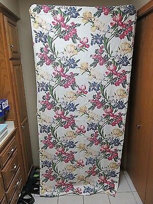 "2 Vintage 89"" By 40""  Barkcloth Drapery Panels"