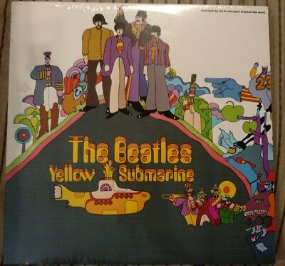 """THE BEATLES """"YELLOW SUBMARINE"""" LP SW-153 Sealed Canadian issue Cut out"""