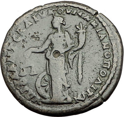 ELAGABALUS 218AD Marcianopolis Authentic Ancient Roman Coin NEMESIS i64938