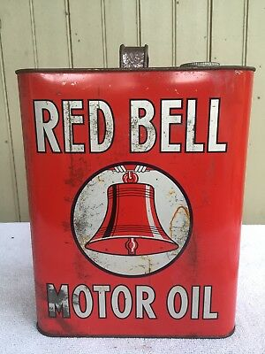 Red Bell 2 Gallon Motor Oil Can Mount Joy Pa Nice No Res.