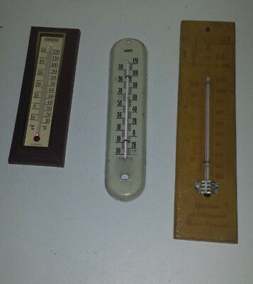 Ohio Springfield vintage lot 3 thermometer wooden metal wall ad Greencastle IN