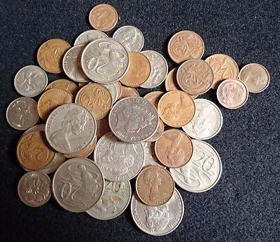Job lot of australian coins dated from 1966-2013 bulk sale