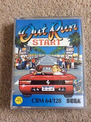 Out Run for the Commodore 64 C64 Original Box Sega game CLASSIC with Audio Tape