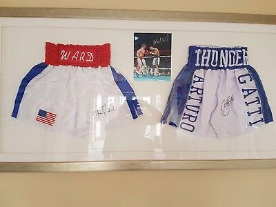 Arturo Gatti And Micky Ward Signed Shorts