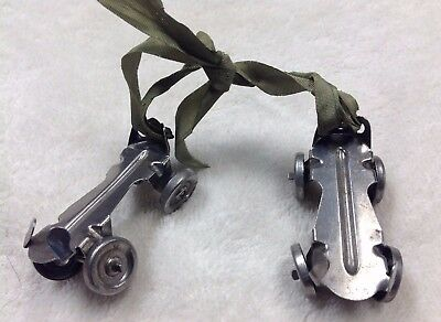 1940s METAL ROLLER SKATES MARKED 'ARRANBEE DOLL CO.' FOR DOLL- MISSING WHEEL