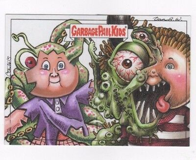 2017 Garbage Pail Kids Battle of the Bands sketch panoramic (d) Webster Contois