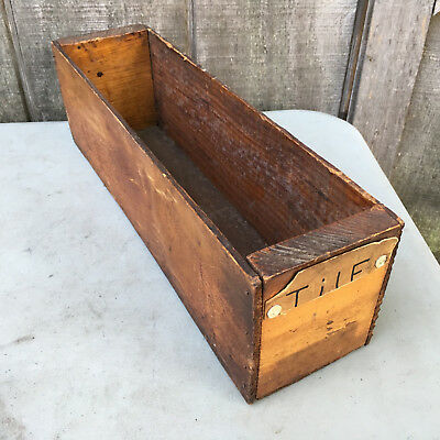 Antique Repurposed Unbranded Wooden Cheese Box