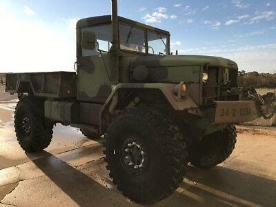 """1965 bobbed deuce and a half M35A3 custom 8"""" lift kit with 53"""" tires"""