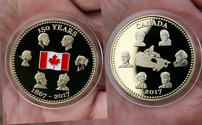 Gold Plated 2017 Canada's 150th Birthday Commemorative Coin (1867-2017)
