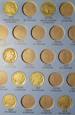 Buffalo Nickel Partial Collection 37 Coins