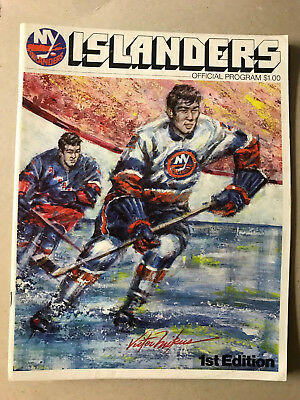NY Islanders vs. Atlanta Flames October 7, 1972 First Islanders game program