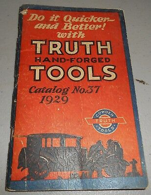 1929 Truth Hand-Forged Tools Catalog No. 37