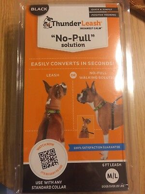 ThunderLeash No-Pull Solution BLACK Dogs Over 25 lbs Leash New In Box