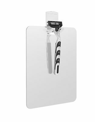 VISO Frameless Shower Mirror with Razor Hook