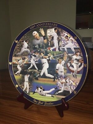 Danbury Mint NY Yankees 100th Anniversary Plate 1981 -2003- SUPERB CONDITION